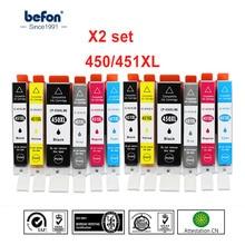 Befon 450XL 451XL Cartouche De Remplacement pour Canon PGI450 CLI451 IGP 450 CLI 451 XL Cartouche Dencre PIXMA IP7240 MG5440 MG6340 7140