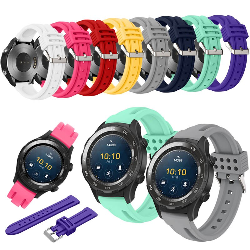 Calidad Superior, nuevo, genuino, deportivo, correas de silicona para relojes, pulsera para Huawei Watch 2 smatch Sports