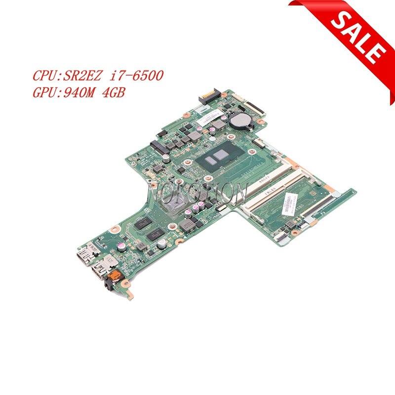 Nokotion 830603-601 830603-001 для HP Pavilion 15T-AB100 15T-AB DAX1BDMB6F0 материнская плата для ноутбука SR2EZ i7-6500 940M 4GB GPU DDR3L