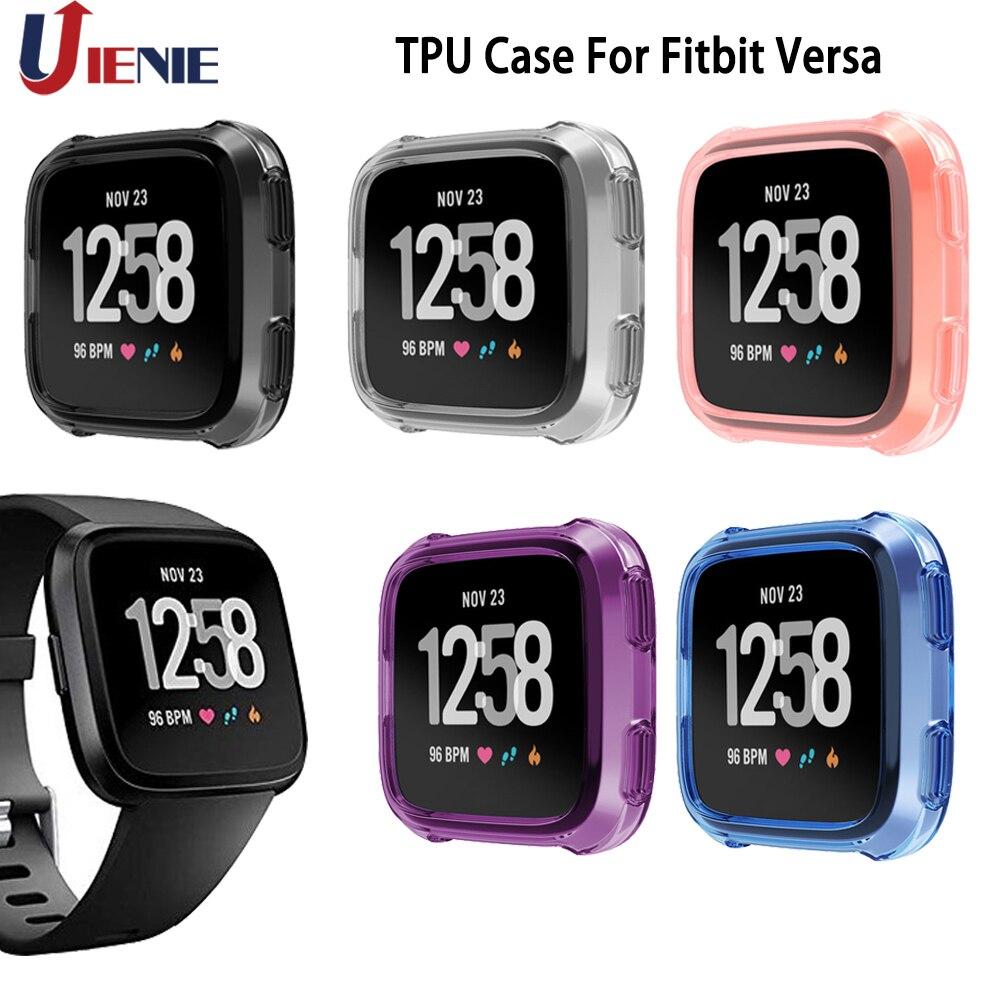 Carcasa protectora de TPU para Fitbit Versa, protector de reloj inteligente, Marco suave, funda de reloj inteligente, ultrafina, suave de silicona TPU