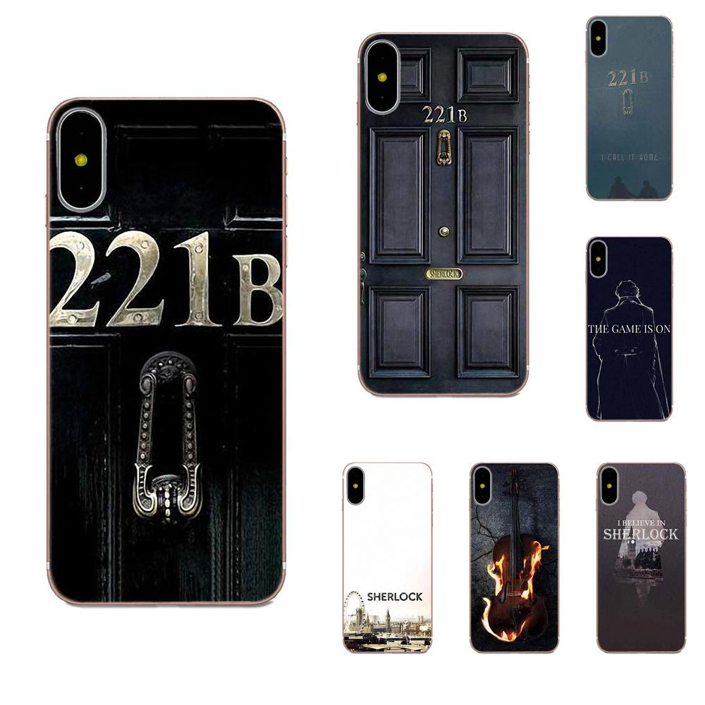 Para Xiaomi Redmi nota 2 3 3S 4 4A 4X 5 5A 6 6A Pro Plus TPU cubre Sherlock Holmes