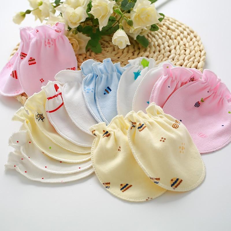 4pair/lot Scratch Mittens Full Finger Gloves Baby Boys Girls Gloves Infant Baby Gloves 0~6M Newborn Baby Cotton Anti Scratching
