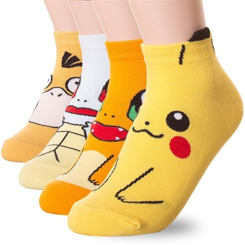Epous 2019 Neue Pokemon Pikachu Charmander Psyduck Squirtle Casual Socken 3D Gedruckt Cartoon Knöchel Socken Kawaii Harajuku Socken