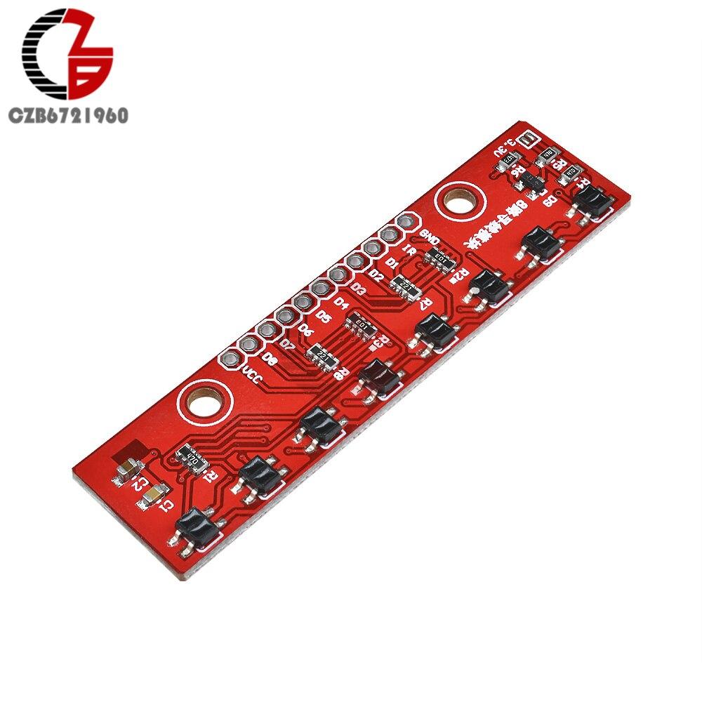 8-канальный ИК-модуль с датчиком слежения, 8-канальный инфракрасный детектор для Arduino Smart Car