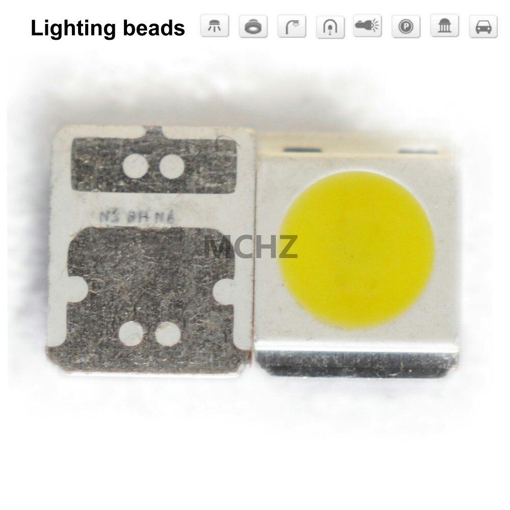 100 unids/lote SMD LED Seúl 3030 Chip 1W 2W 3V 350MA-700MA blanco cálido frío 135LM-220LM