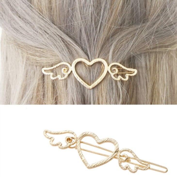 2019 Korean Fashion New Hair Accessories Gold Love Cupid Wings Ladies Hairpin Manufacturers Wholesale Sales Bride Crown