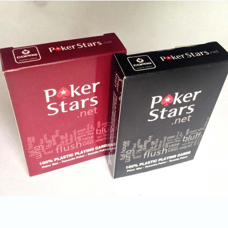 Cartas de póker con estrellas rojas/negras, opción Texas Holdem, cartas de póker resistentes al agua y opacas