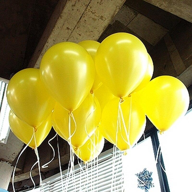 10 sztuk/partia 10 calowy żółty perłowy lateksowy balon 21 kolorów nadmuchiwane okrągłe powietrze piłka ślub z okazji urodzin balony dekoracji