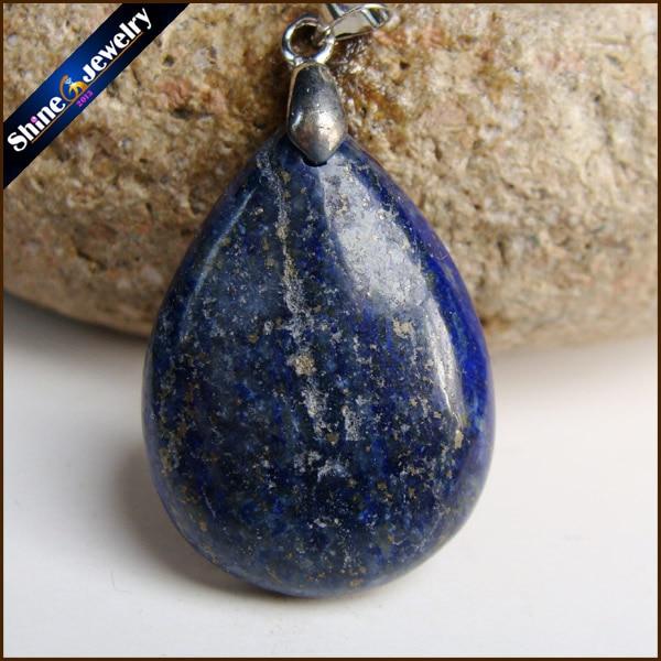 Joyería para hombres, lapislázuli azul natural Colgante de Piedra, collar Colgante de Piedra lapislázuli, venta al por mayor, colgantes de moda para niños, regalos GS286