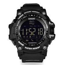 Plxsin ex16 bluetooth relógio inteligente à prova dwaterproof água pedômetro cronômetro despertador suporte sim e cartão tf para homem