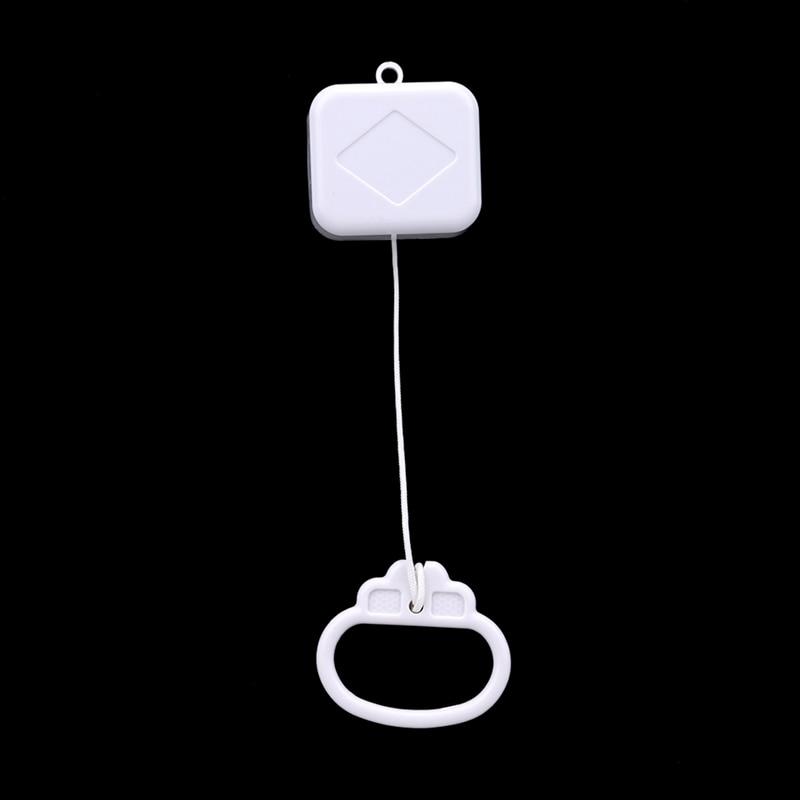 Pull Ring Music Box White ABS Plastic Pull String Clockwork Cord Music Box Infant Kids Bed Bell Ratt
