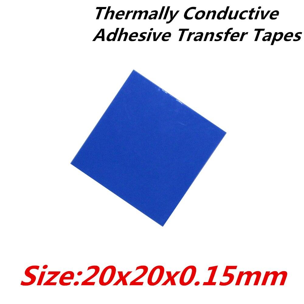 40 unids/lote 20x20mm cintas de transferencia adhesiva conductoras térmicas cinta térmica de doble cara para radiador disipador térmico