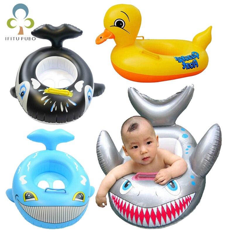 Новый Акула утка в форме Gloat дети надувной ребенок малыш безопасный плавать ming плавать сиденье лодка бассейн рыба кольцо высокого качества GYH