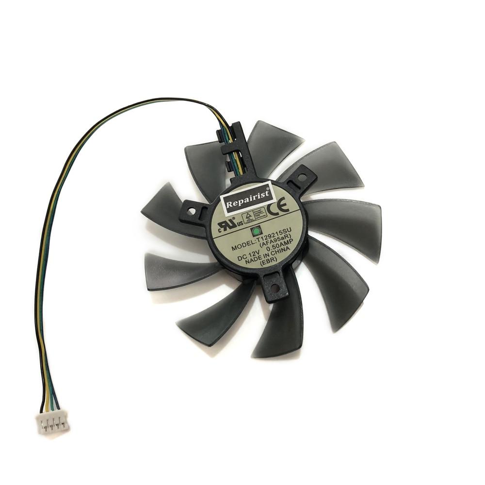 Ventilador de refrigeración T129215SU FD9015U12S DC 12V PWM 4 pines GPU VGA...