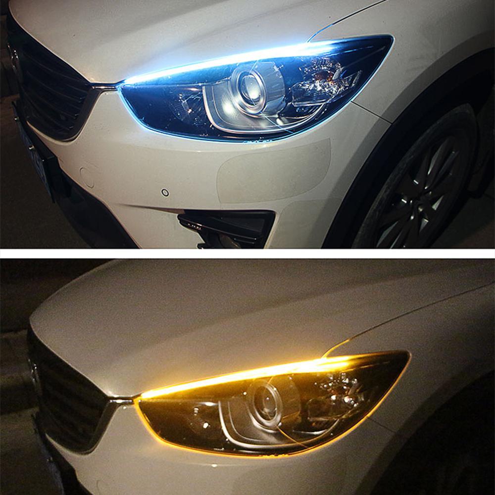 2 шт. для Honda CR-V Civic XR-V CR-Z dio fit greiz grider Accord Gazz автомобильный гибкий DRL струящийся Янтарный Дневной светильник с поворотом