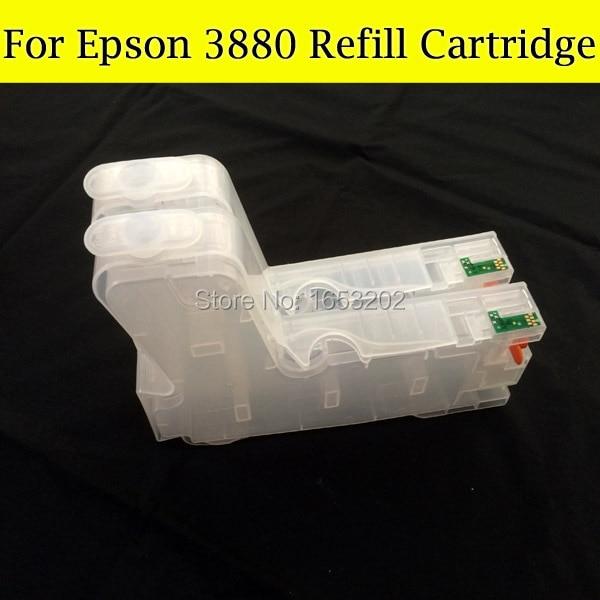 o Envio Gratuito de 3880 do Cartucho de Tinta para Epson T580 com Sensor de Chip Comepatible Impressora Eps 3880 T5801 T5809 T5802 T5803