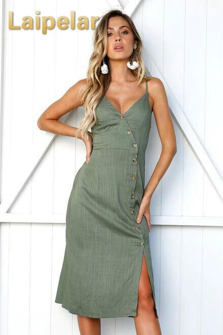 Laipelar Summer Dress Cut Out Sexy midi Dresses Hem Boho Chic Women Dress Holiday Beach Vestidos