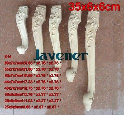 Aplique de madera tallada Z14 -35x6x6cm, calcomanía de carpintero para trabajos en madera