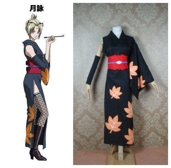 Gintama Tsukuyo disfraces cosplay de kimono