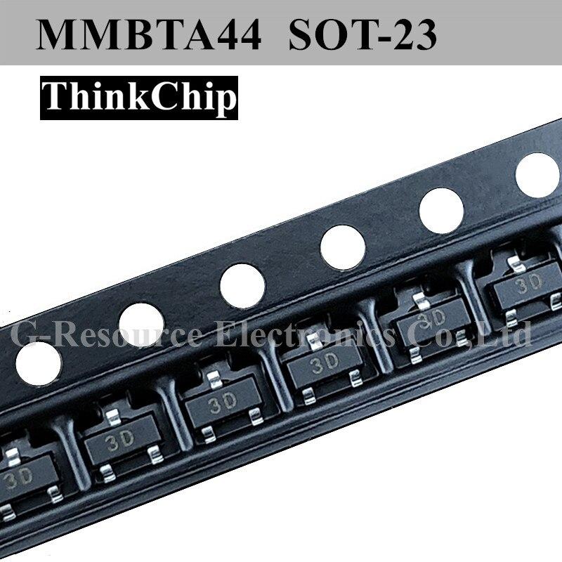 (100 uds) Transistor Bipolar de alta tensión de silicio NPN mot-23 mot MMBTA44 (marcado 3D)