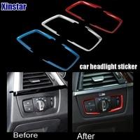 2pcslot m power performance car headlight decoration sticker for bmw 1 2 3 4 series 316i gt 320li
