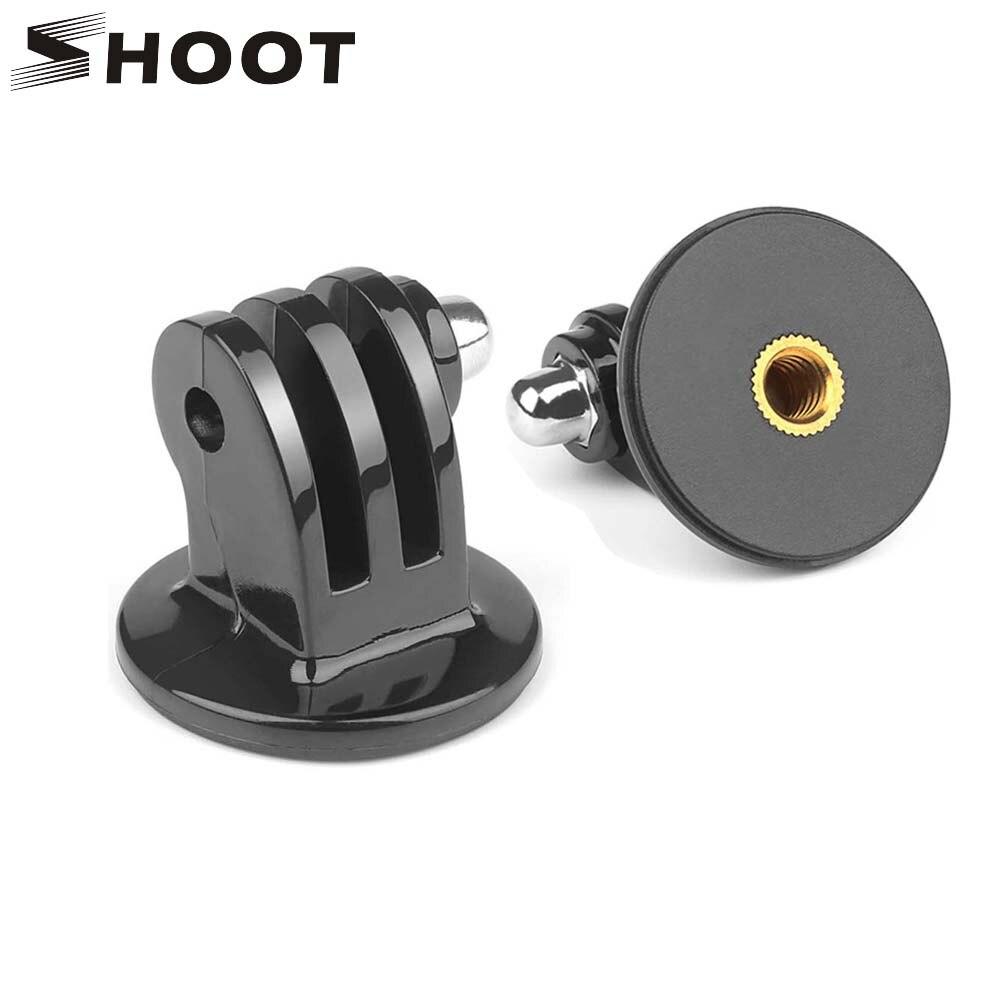 SHOOT-Montura de trípode para Gopro Hero 8, 7, 5, 6, negro, 5 sesiones, Xiaomi Yi, 4K, Sjcam, Sj4000, Sj8, Dji, Osmo, accesorio de Cámara de Acción
