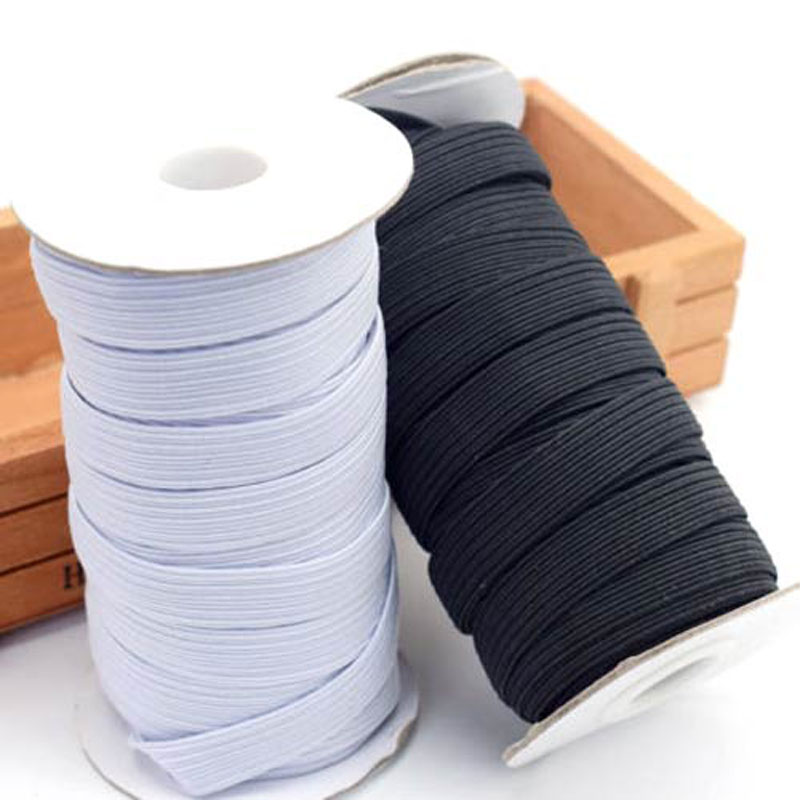 KALASO 5M/10M High Quality Elastic Band Sewing Accessories Fabric Flat Elastic Ribbon Underware Pajamas Ties Trim Width 3mm~14mm