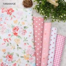 5pcs 40cm*50cm Manual Cloth fabric Orange flower Cotton Fabric for Patchwork Sewing Telas Tissus Patchwork cushion Cloth