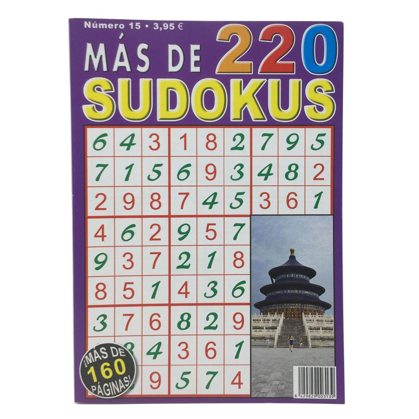 Livro de super-albúm Sudokus N°15