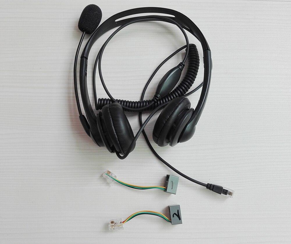 جديد المهنية RJ11 التوصيل بإذن دعوة مركز الهواتف سماعة الهاتف سماعات mic مع 2 محولات لجميع الهواتف