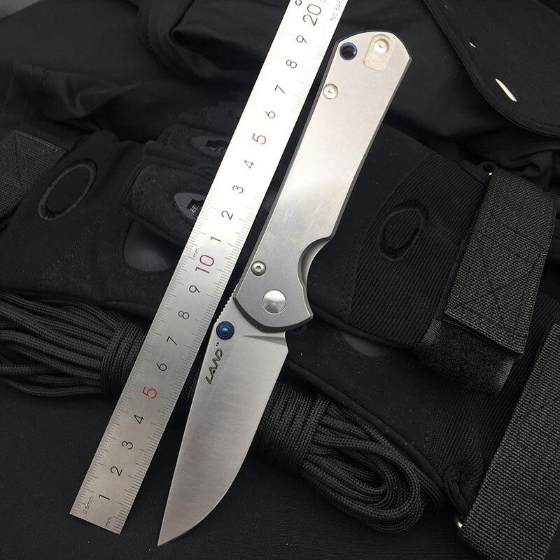 Land 9103 складной нож 12C27 лезвие для мытья камня стальная ручка Открытый Отдых выживания EDC карманные ножи кухонный режущий инструмент