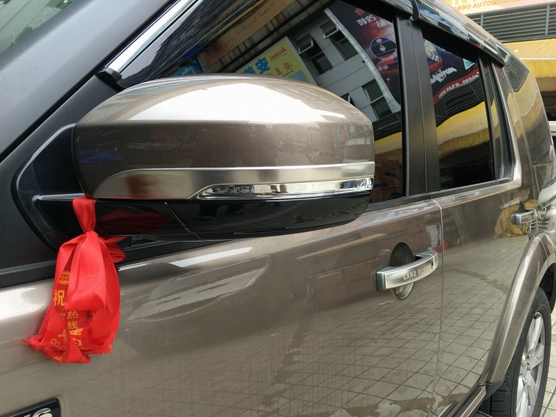 2 unids/lote Auto moldura para espejo retrovisor coche espejo lateral tira para land rover Discovery 4 YT-172 125