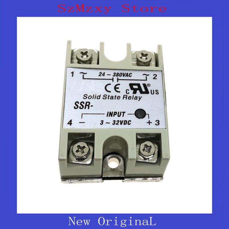 1PCS SSR Solid State Relay SSR-10-DA SSR-25-DA 3-32VDC 24-380VAC SSR-10 SSR-25 10A 25A