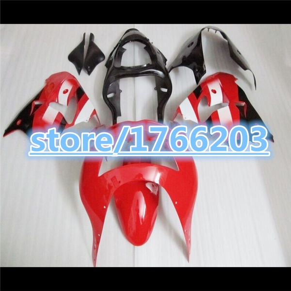 Kit de peças da motocicleta para KAWASAKI ZX-9R ZX9R 98-99 preto branco Vermelho 9R 1998 1999-98 99 ZX 9R 1998 1999 ABS kit Carenagem