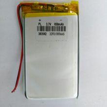 3.7v li po li-ion batteries 3 7 v paquet 3.7V polymère lithium batterie 383562 403560 650MAH enregistreur GPS haut-parleur MP3
