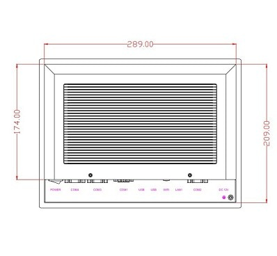 10.4 inch Fanless Industrial Panel PC, J1900 CPU, 4GB DDR3 RAM, 64GB SSD, 10.4 inch industrial tablet HMI, industrial computer