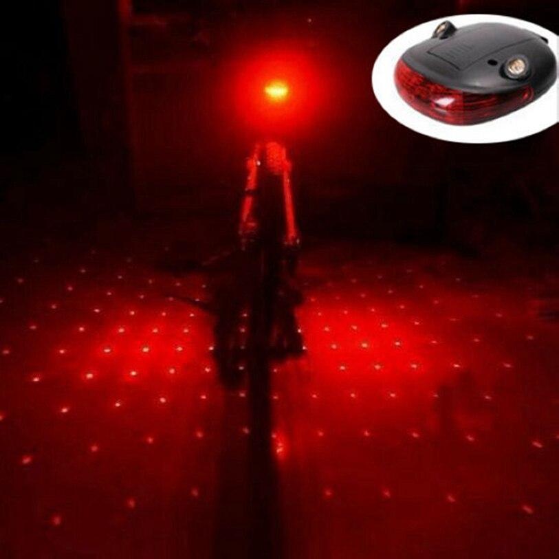 Venda quente Bicicleta da Bicicleta Da Bicicleta Gypsophila Laser Projector Lamp e 5 Cauda LED Luz Traseira Luz Da Bicicleta MTB