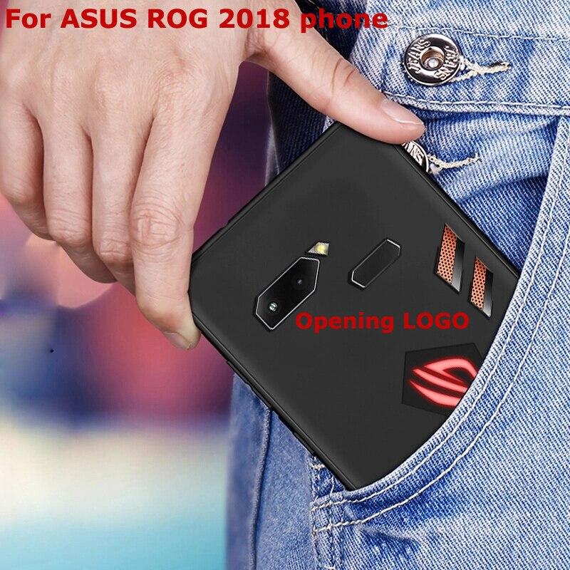 2 pcs LOGO Abertura buraco Para Asus ROG ZS600KL Telefone 2018 Caso pintura dos desenhos animados de Silicone suave Tampa Traseira Para Asus casos de Telefone ROG
