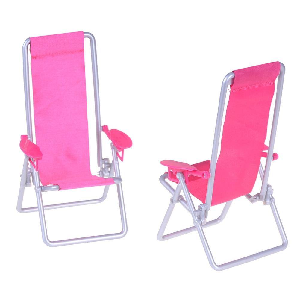 112 Scale Foldable Deckchair Lounge Beach Chair For Barbie Dolls House  For Lovely Miniature  12*11*19.5cm