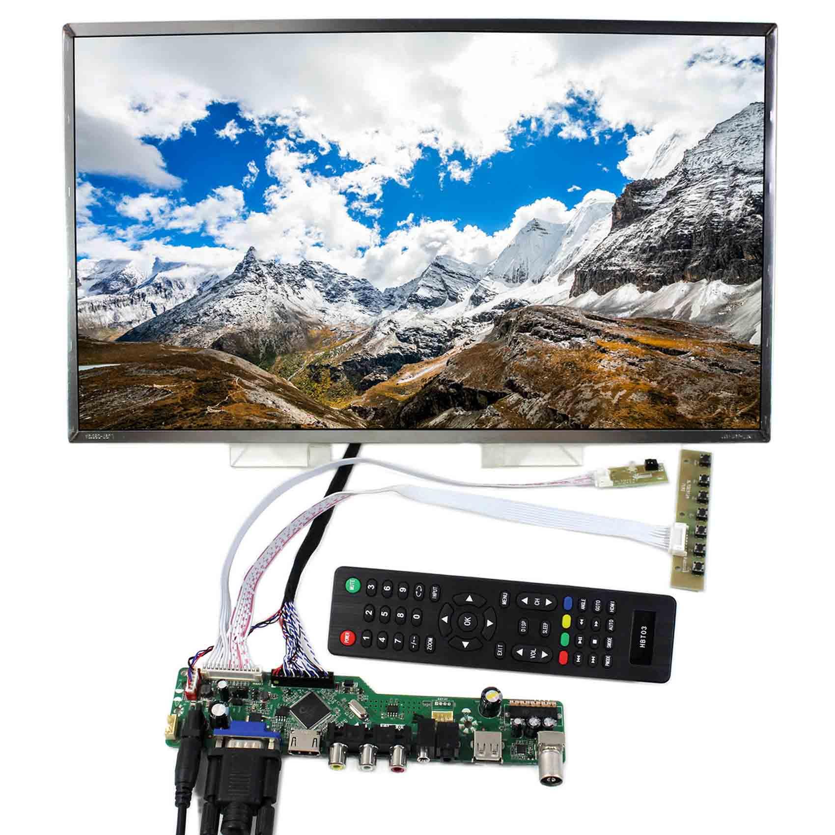 "17,3 ""B173RW01 1600X900 pantalla LCD de 17,3 pulgadas de pantalla LCD VGA HDMI AV tarjeta controladora LCD con USB N173FGE LCD Ddisplay"