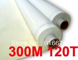 Скидка 5 метров 120T 300M полиэстер шелковая сетка для трафаретной печати 120T Ширина 127 см