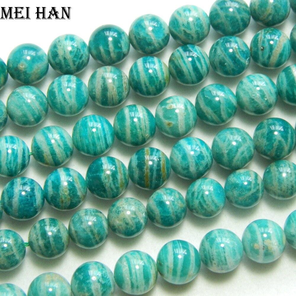 Meihan atacado natural raro 8mm & 12 +-0.2mm russo amazonita grânulos pedras para fazer design de jóias