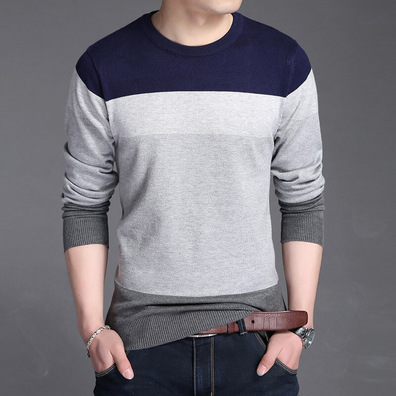 2018 neue Marke Pullover Männer Pullover Slim Fit Herbst männer Pullover Mode Strick Herren Pullover Pull Patchwork Pullover Kleidung