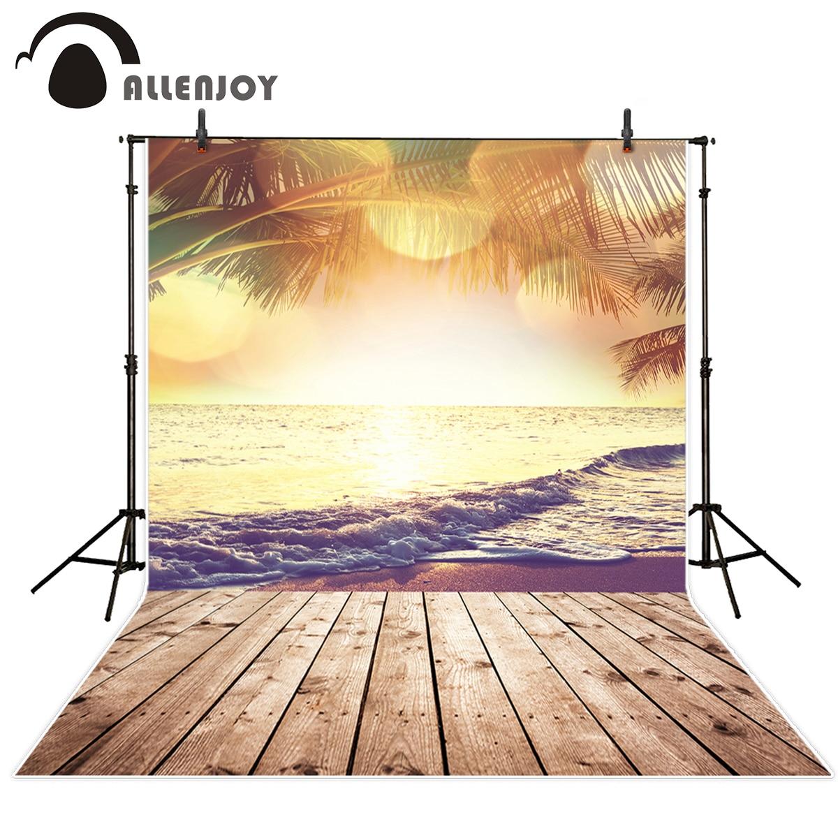 Allenjoy verano mar fondo para fotografía tipo bokeh Playa Coco árbol estético paisaje Natural fondo profesional sesión fotográfica