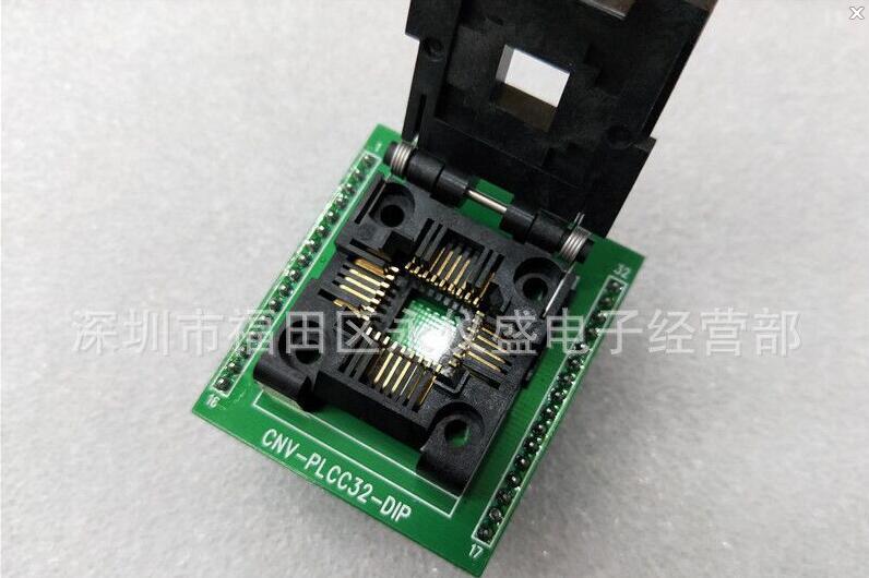 مقبس اختبار PLCC32 (flip) الأصلي CNV-PLCC32-DIP