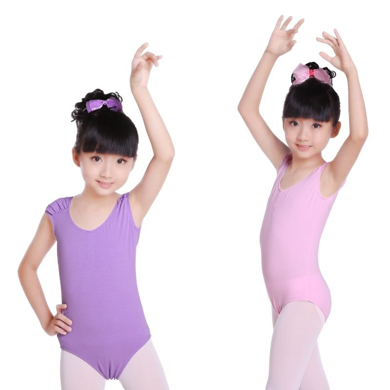 Children Low Back High-Grade Toddler Kids Cotton Ballet Dance Gymnastic Pink Leotard Girls Ballet Body Ballet Leotards