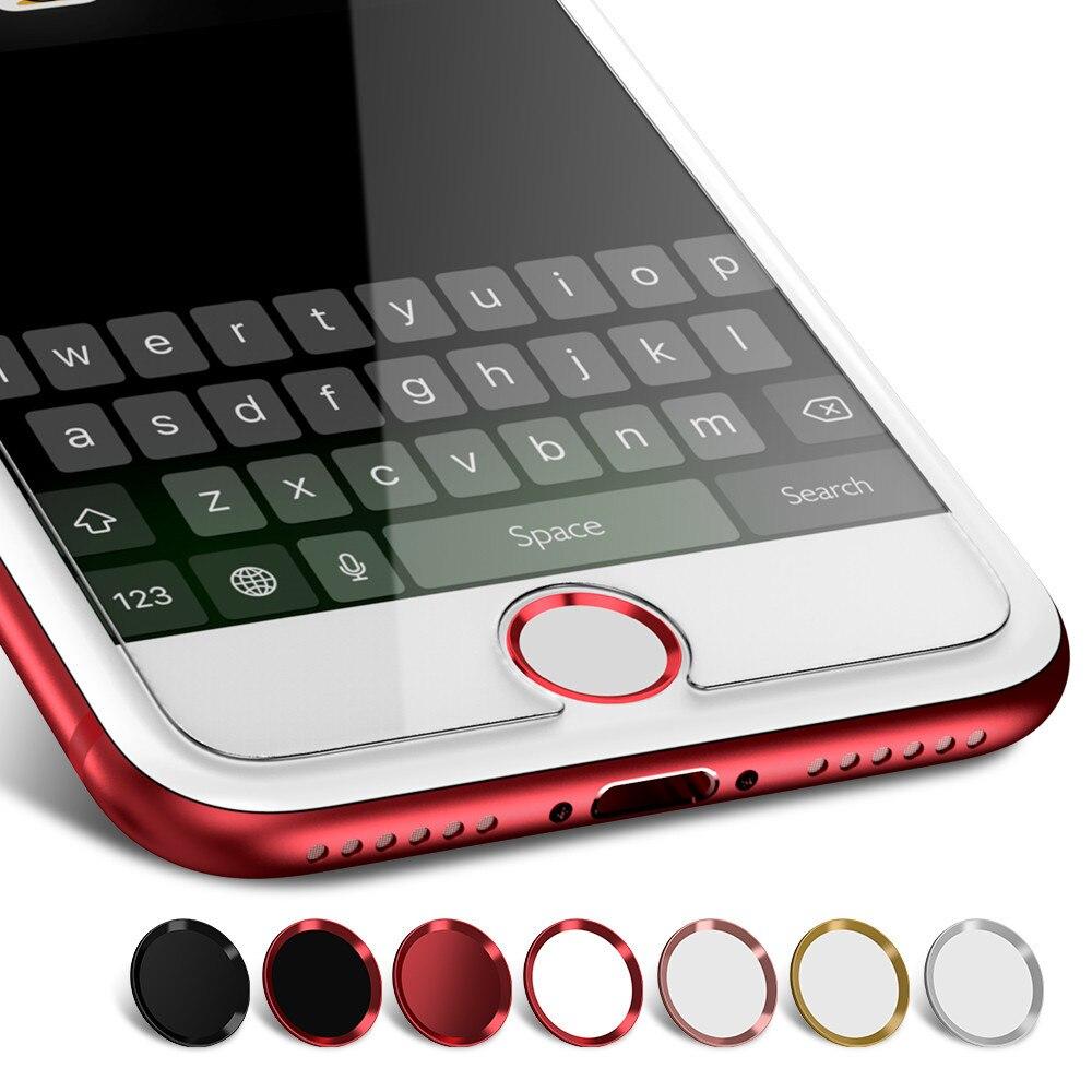Для iPhone 8 7 6s, наклейка на кнопку «домой» для iPhone 6 7 8 Plus, защита экрана, сканер отпечатка пальца, сенсорная идентификация, нано Передняя пленка ...