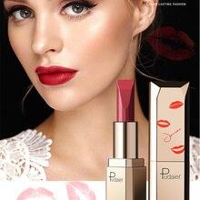 Pudaie 24 colores Sexy rojo mate pintalabios de larga duración brillo de labios maquillaje impermeable pintalabios para labios Batom mate buena textura