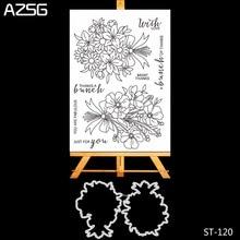 AZSG-ensemble de matrices à découper en métal   Lot de tampons clairs pour bricolage, Scrapbooking, gaufrage décoratif et Stencial pour Album Photo