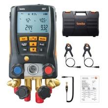 Manomètre numérique de réfrigération   Manomètre de pression, Testo 557, collecteur numérique, système de jauge de cvc, Kit, compteur Bluetooth vide externe, manomètre numérique